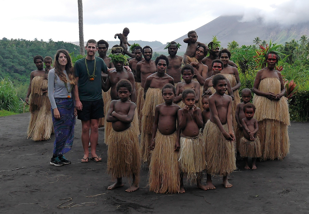 thomas and selma with imaio tribes wanna island vanuatu