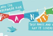 nspcc underwear rule logo