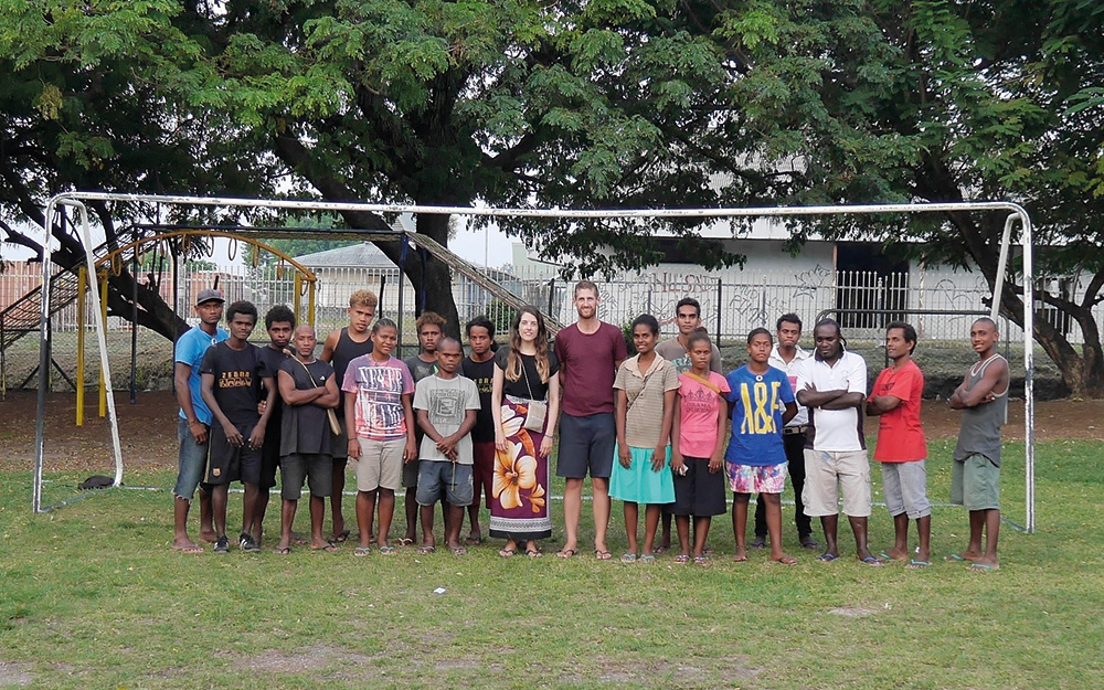 blank canvas solomon islands group photo