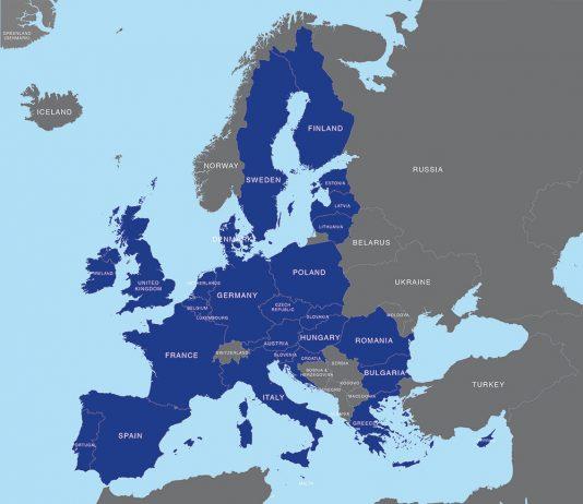 map of EU