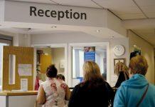doctor surgery reception queue