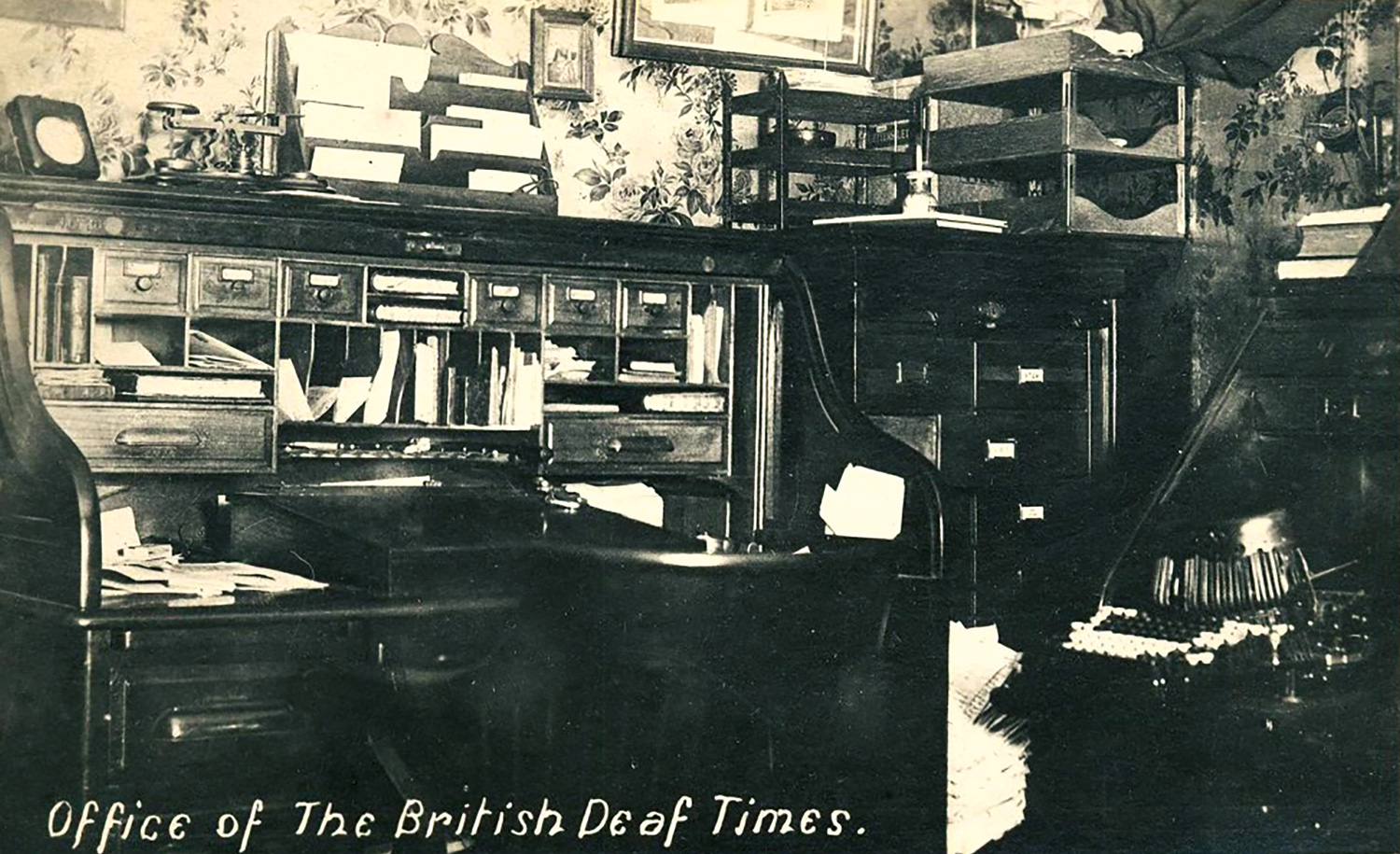 The office of The British Deaf Times in early 1900's