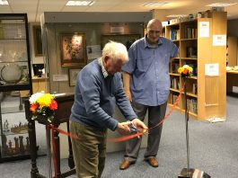 Tony Boyce, our BDHS President, gave a welcoming speech and cut the ribbon to declare the Deaf Museum open
