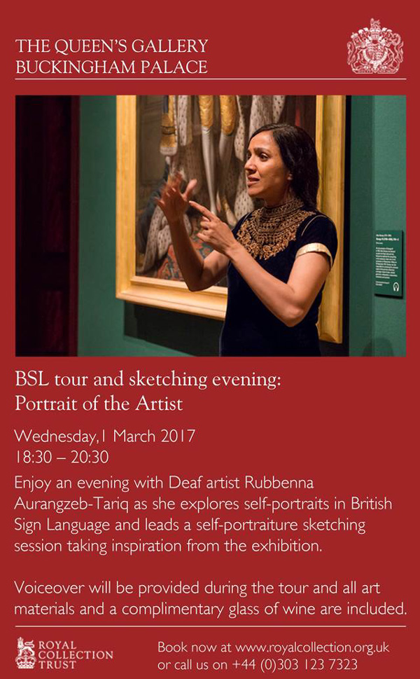 BSL tour and sketching evening: Portrait of the Artist - small