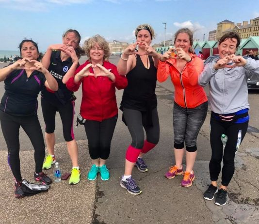 Deaf runners at Hove